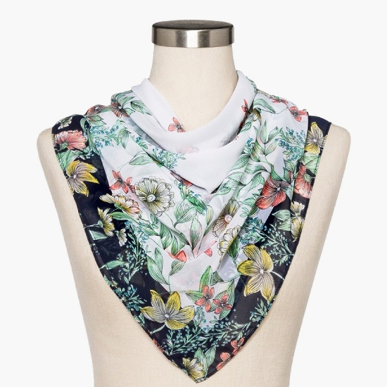 Women's Floral Large Square Scarf - A New Day™