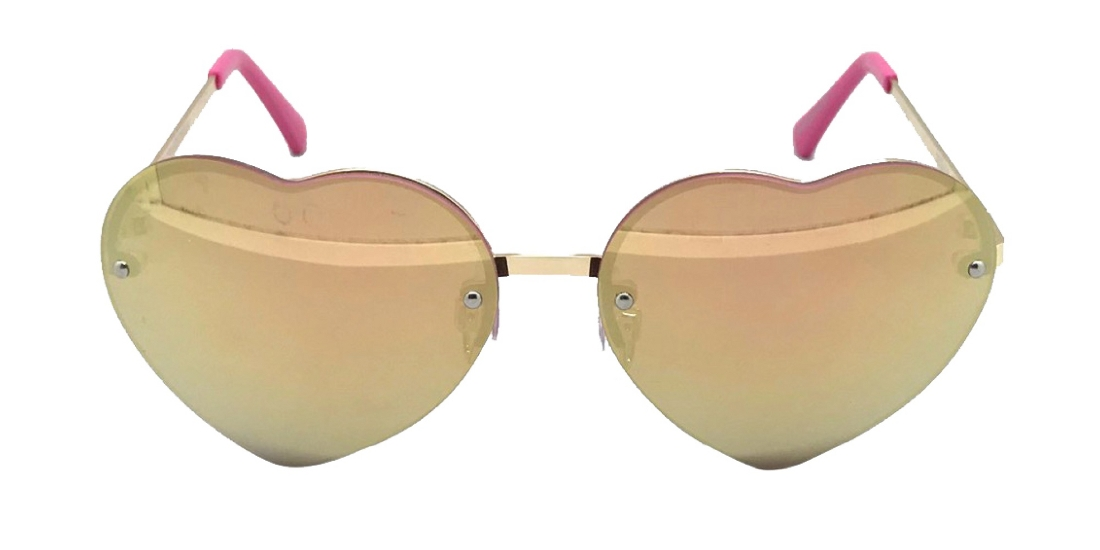 Girls' Mirrored Hearts Sunglasses - Cat & Jack™ Rose Gold One Size