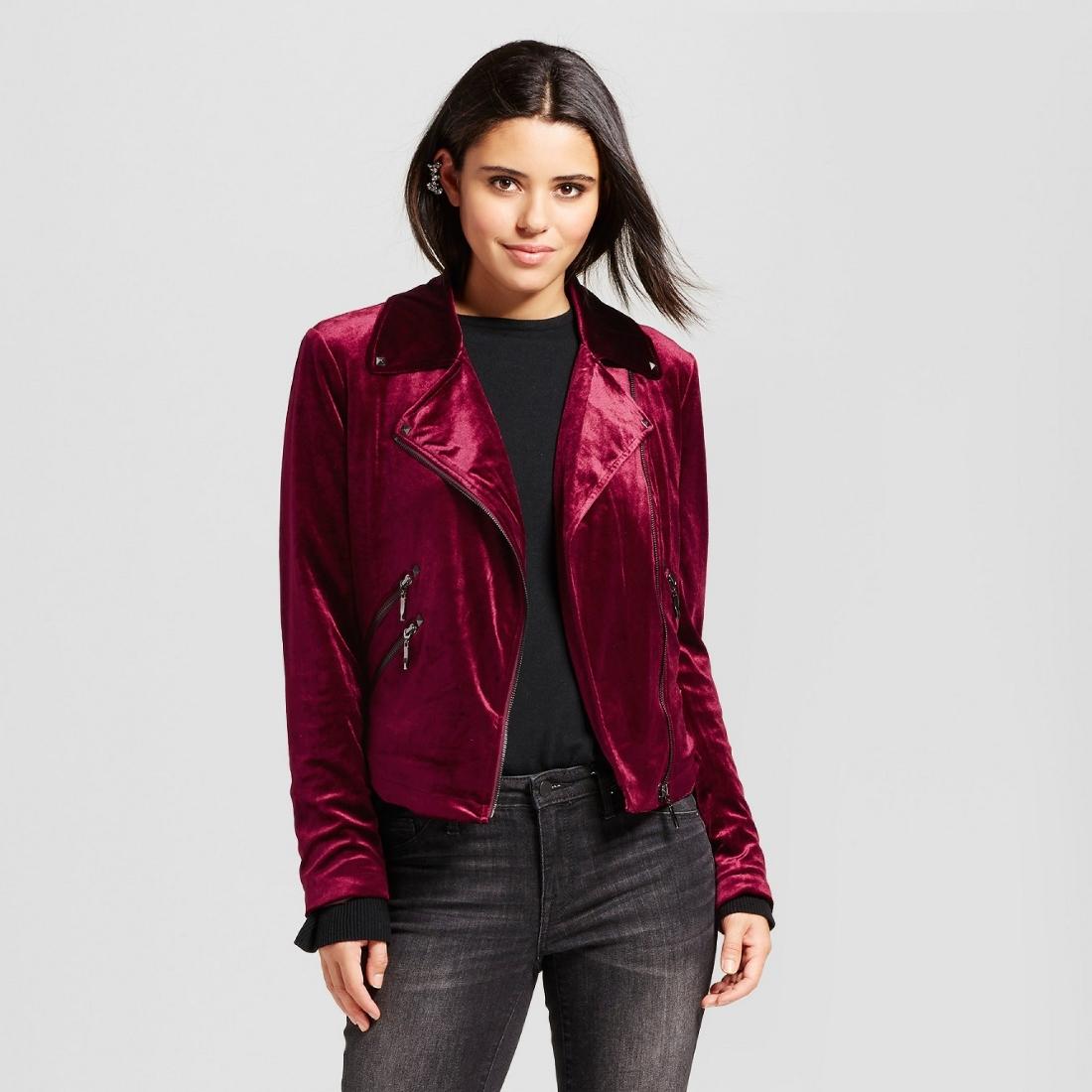 Women's Velvet Moto Jacket - Bagatelle®