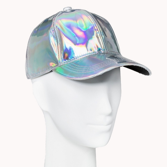 Women's Iridescent Baseball Hat - Mossimo Supply Co. Silver