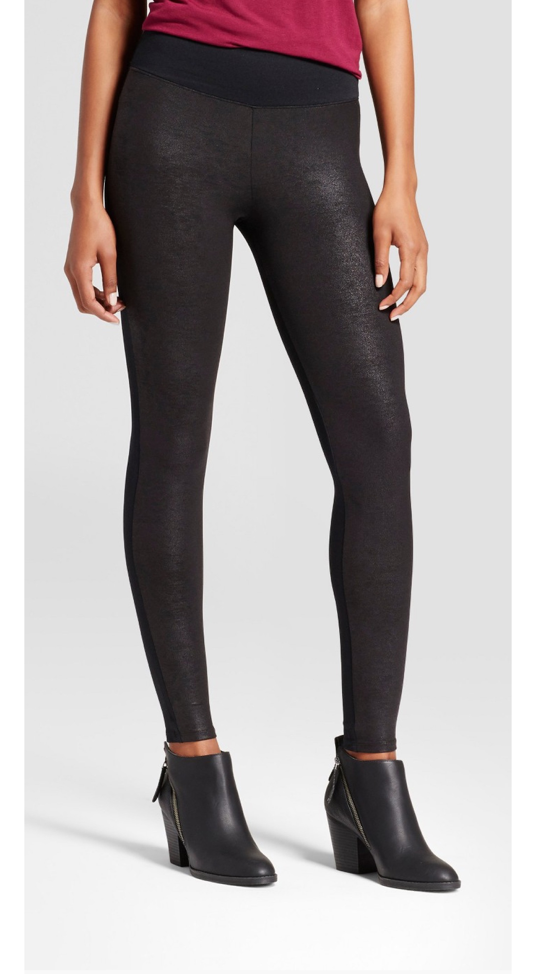 ASSETS® by Spanx® Women's Faux Leather Front Legging