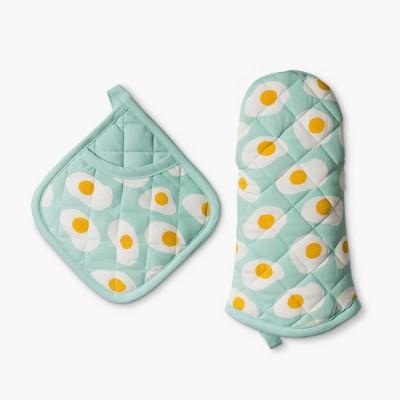 Kitchen Textile Aqua 2pc - Room Essentials™