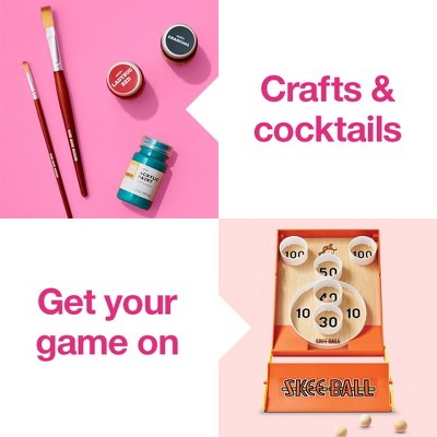 Crafts & Cocktails. Get your gmae on.