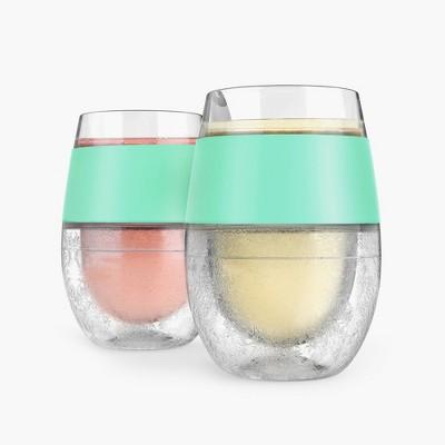 True Fabrications Host Plastic Wine Freeze Cooling Cups 8.5oz Mint - Set of 2