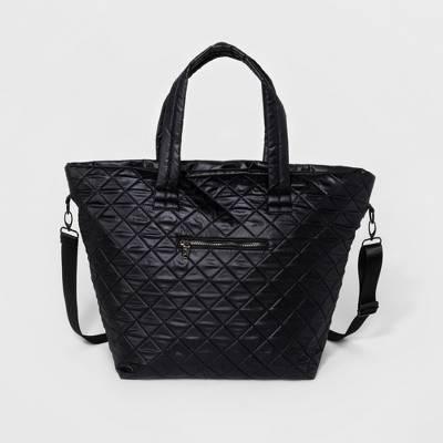 Women's Quilted Gym Tote Handbag - JoyLab™ Black