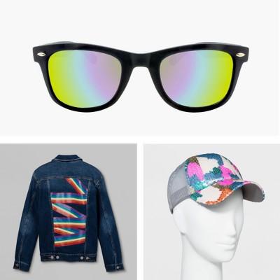 Men's Surf Shade Sunglasses - Black, Pride Adult Denim Jacket - Blue, Women's Sequin Trucker Baseball Hat - Mossimo Supply Co.™