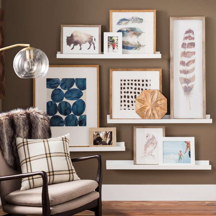 home wall interior design. Picture ledge Gallery Wall Ideas  Target