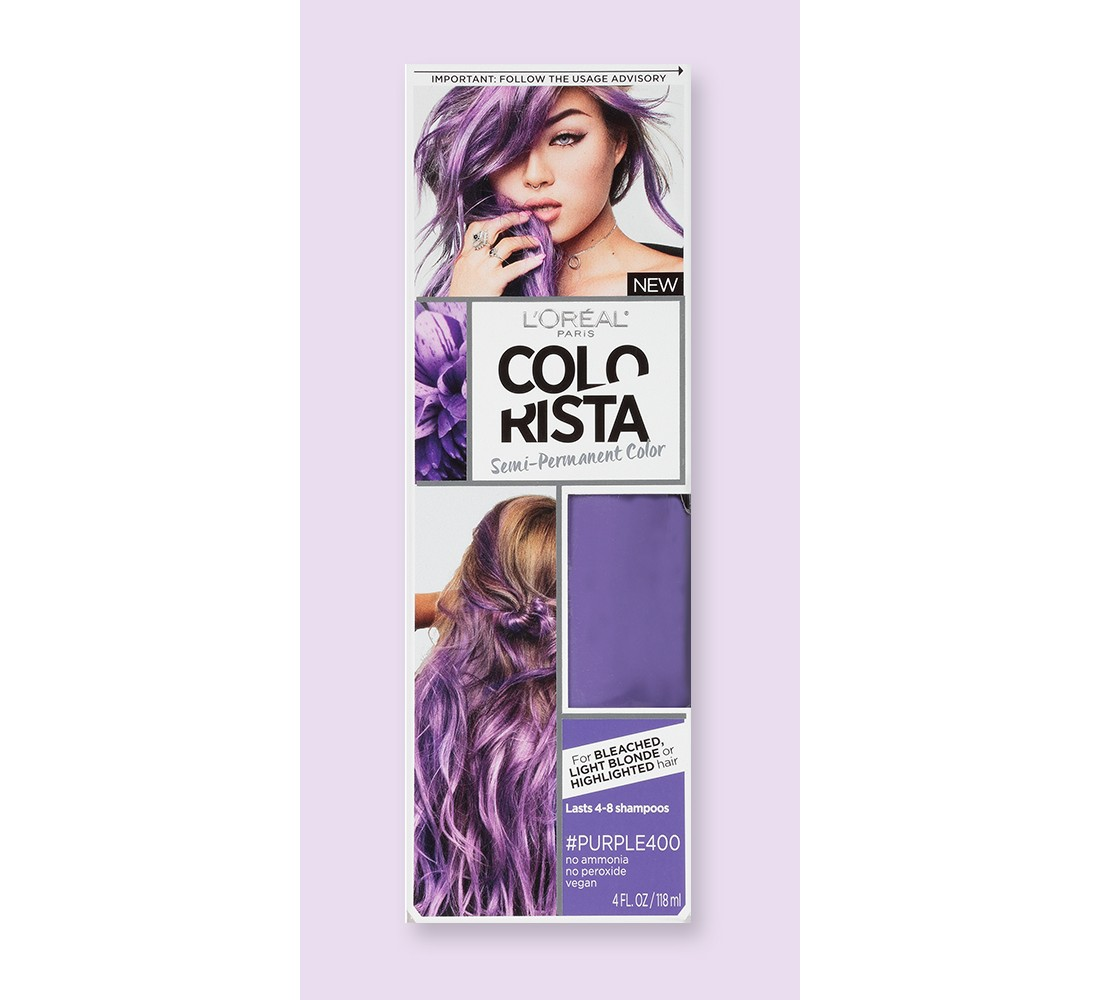 L'Oreal Paris Colorista Semi-Permanent Hair Color for Light Blonde or Bleached Hair
