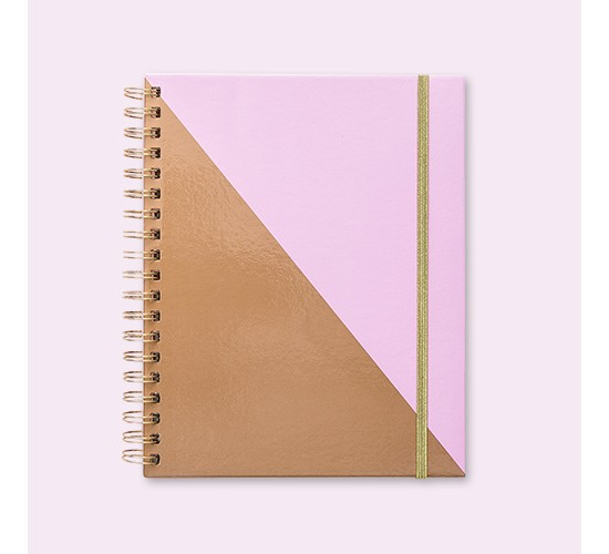 Undated Brit + Co® Planner Weekly Monthly - Purple & Copper Color Block