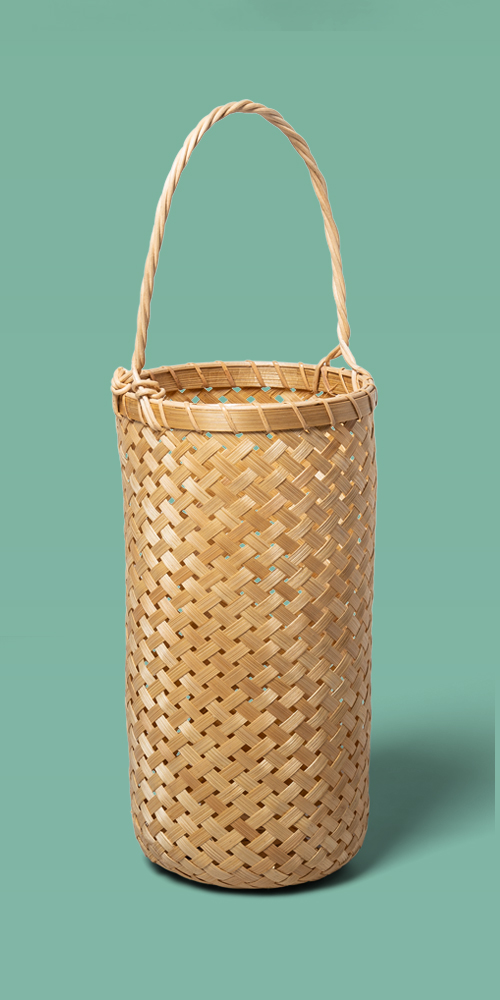 "18.5"" x 6"" Bamboo Hanging Basket Natural - Opalhouse™"