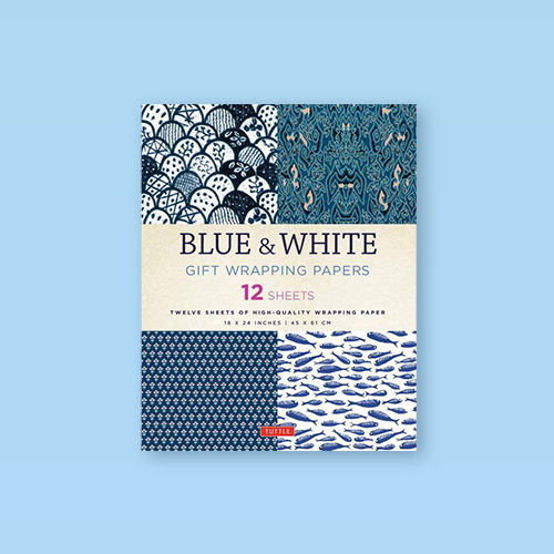 Blue & White Gift Wrapping Papers - (Paperback)