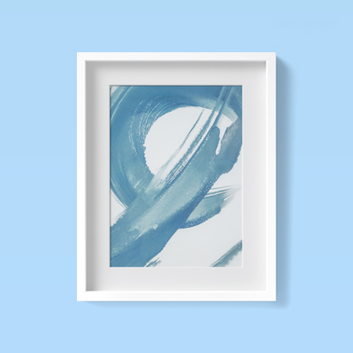 "16"" x 20"" Abstract Brush Stroke Framed Wall Art Blue - Project 62™"