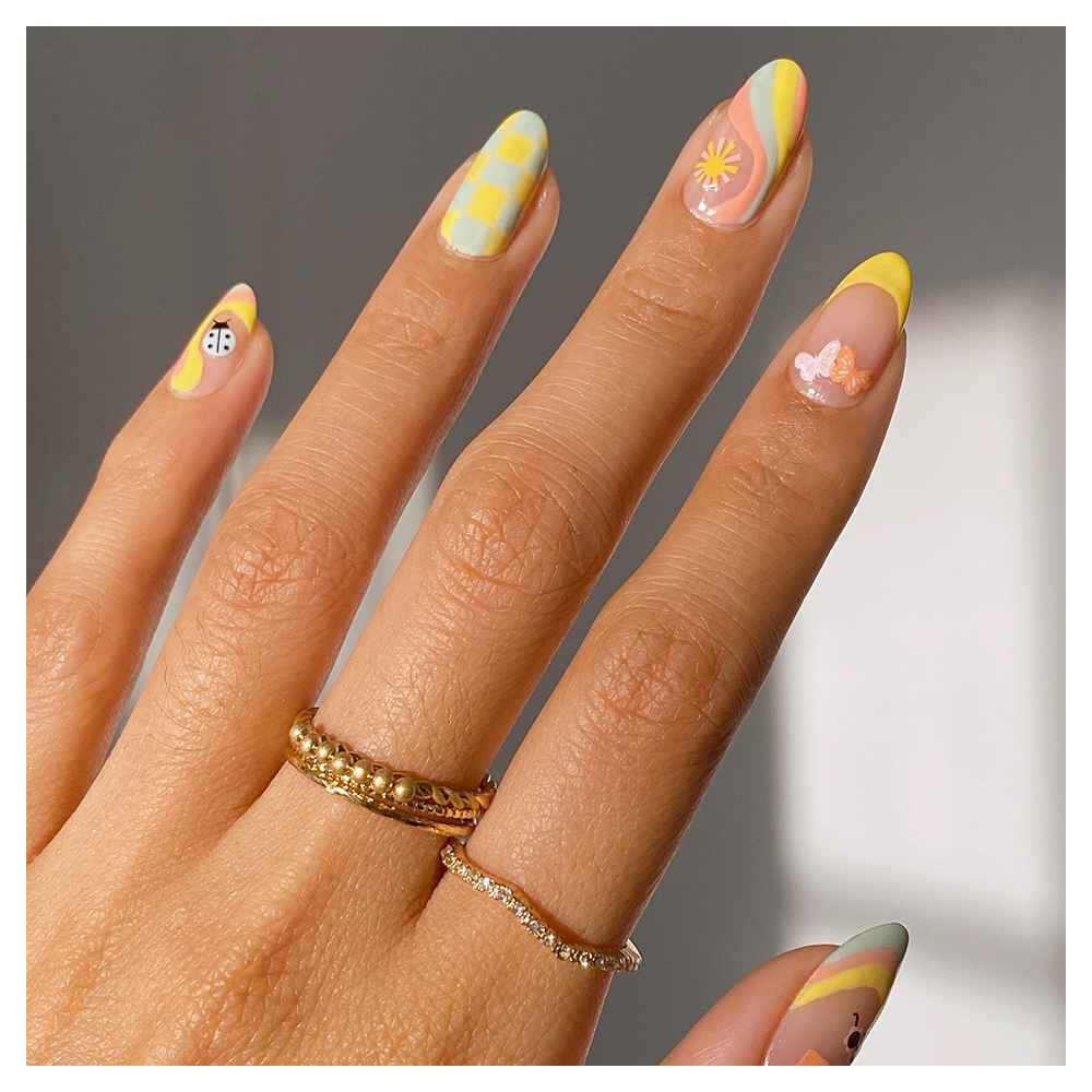 Olive & June Nail Polish - Wild & Free - 0.46 fl oz, Olive & June Nail Polish - Bright & Focused - 0.46 fl oz, Olive & June Nail Polish - KMC - 0.46 fl oz, Glass Crystal Ring Set 5pc - A New Day™ Gold 8