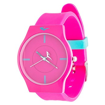 Ladies' Everlast® Soft Touch Rubber Strap Watch - Pink