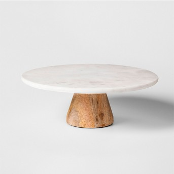 Marble & Acacia Cake Stand - Project 62™