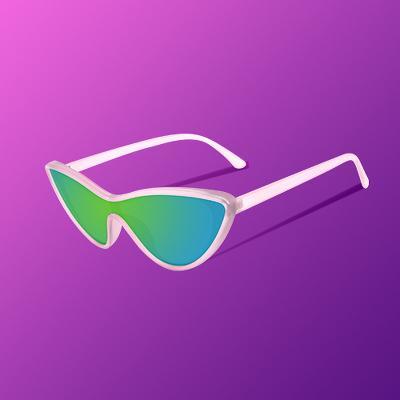 Women's Americana Plastic Cateye Sunglasses - Wild Fable™ Pink