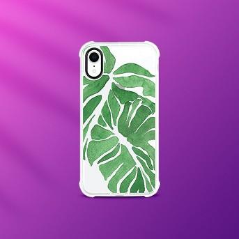OTM Essentials Apple iPhone XR Rugged Edge Clear Floral Case