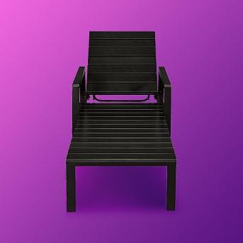 Bryant Patio Chaise Lounge Black - Threshold™