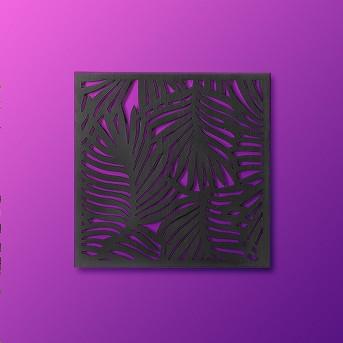 Carved Wood Palm Leaf 2pk Wall Decor - Opalhouse™