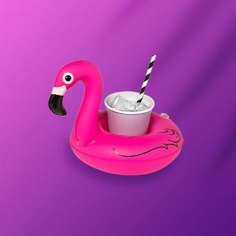 Flamingo Beverage Boats Pink 3pk - Sun Squad™