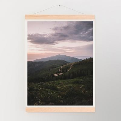 Garrett Lockh Skyline Drive Wall Art Print Green - society6