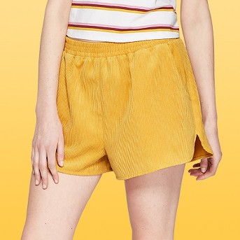 Women's High-Rise Corduroy Pull On Shorts - Wild Fable™ Yellow