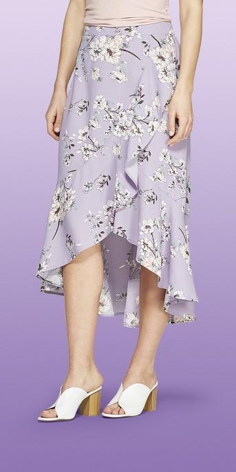 Women's Ruffle High Low Maxi Skirt - Xhilaration™