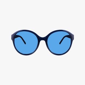 Women's Plastic Round Sunglasses - A New Day™ Navy