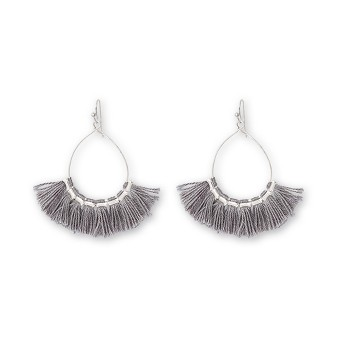 Drop Open Wire Teardrop with Tassel Earrings - Universal Thread™