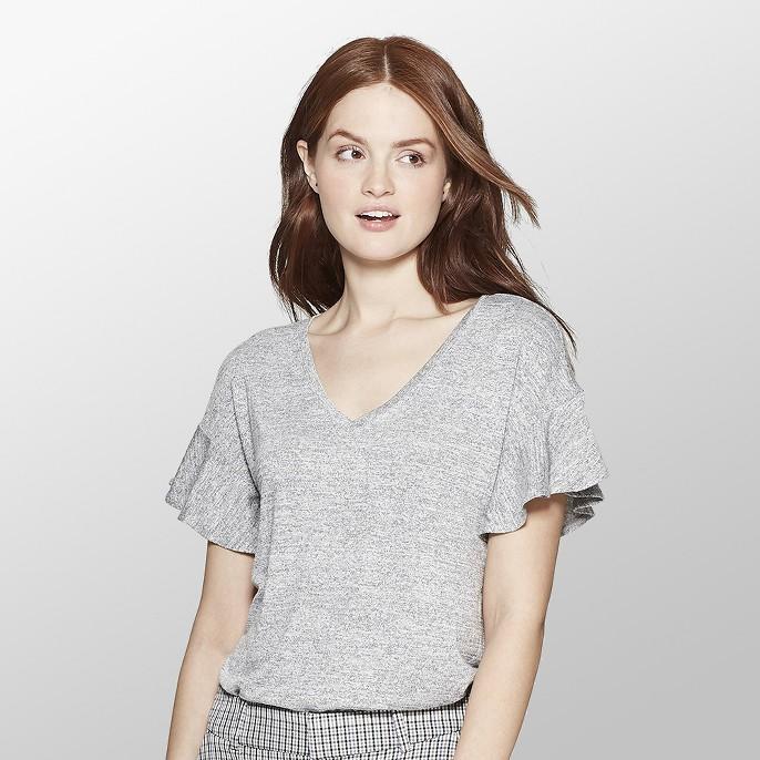 Women's Short Sleeve Ruffle T-Shirt - A New Day™