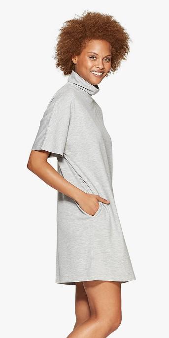 Women's Short Sleeve Turtleneck Shirtdress - Prologue™