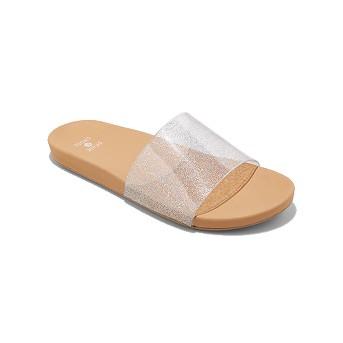 Women's Pixie Glitter Slide Sandals - Shade & Shore™ Silver