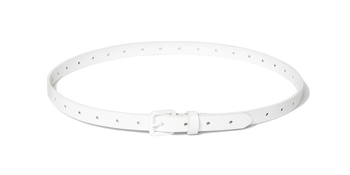 Women's Laser Cut Belt with Matching Buckle - A New Day™ White