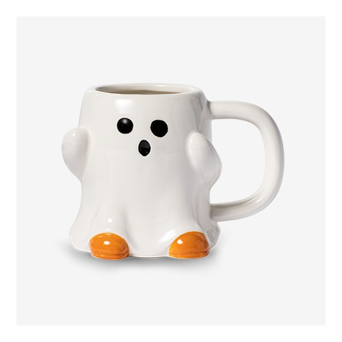 11.9oz Earthenware Ghost Halloween Mug - Hyde & EEK! Boutique™