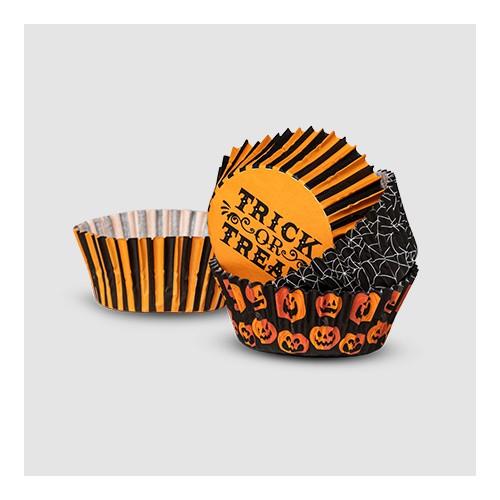 75ct Paper Baking Cups Black/Orange - Hyde & EEK! Boutique™