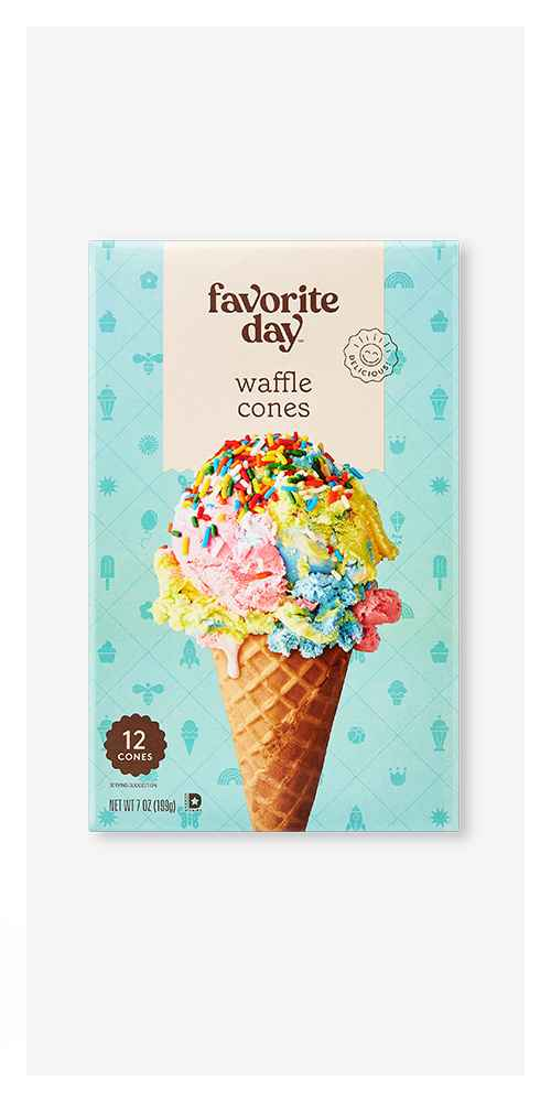 Waffle Cones - 12ct - Favorite Day™, Waffle Bowls - 10ct - Favorite Day™, Ice Cream Cups - 24ct - Favorite Day™, Sugar Cones - 12ct - Favorite Day™