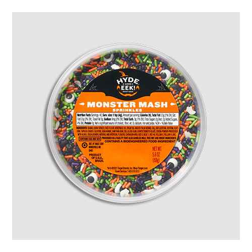 Halloween Monster Mash Sprinkle Tub - 5.6oz - Hyde & EEK! Boutique™, Colored Skull Sprinkle Tub - 5.2oz - Hyde & EEK! Boutique™, Orange and Black Toil and Trouble Nonpareils Sprinkles - 3.8oz - Hyde & EEK! Boutique™, Halloween Midnight Fright 6-Cell Sprinkles - 6.9oz - Hyde & EEK! Boutique™