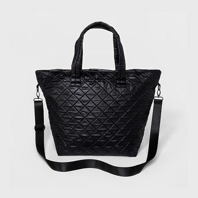 Women's Quilted Gym Tote Bag - JoyLab™ Black
