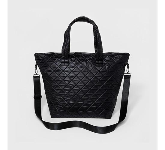 Women's Quilted Gym Tote Hand Bag - JoyLab™ Black