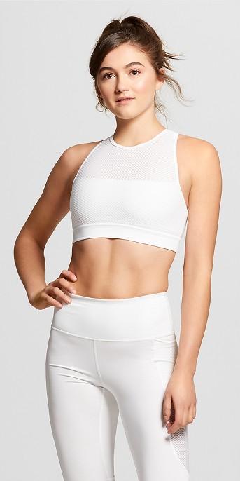 Women's Performance Mesh Layer Sports Bra - JoyLab™ White