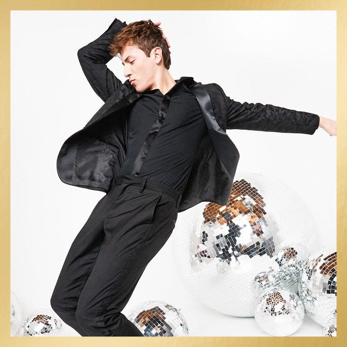Men's Classic Fit Camo Suiting Blazer - Original Use™ Black, Men's Casual Fit Mid-Rise Straight Suit Pants - Original Use™ Black, Men's Casual Fit Long Sleeve Satin Poplin Button-Down Shirt - Original Use™ Black, Northlight 12