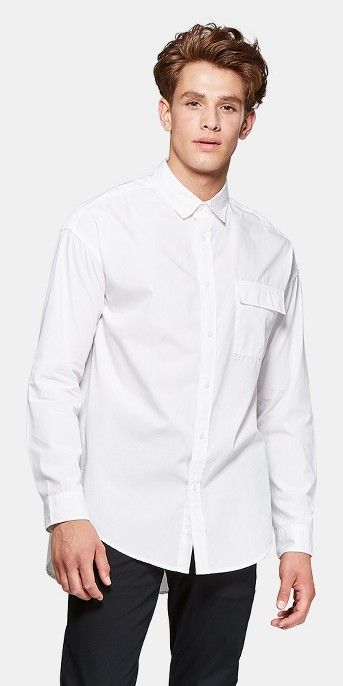 Men's Long Sleeve Long Line Button-Down Shirt - Original Use™