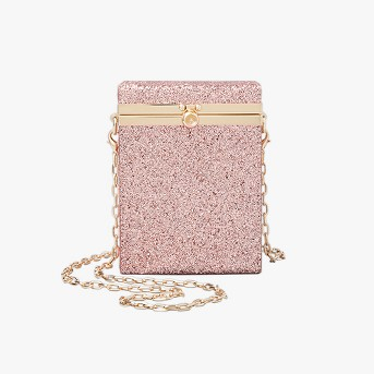 Box Minaudiere Clutch Crossbody Bag - A New Day™ Rose Gold