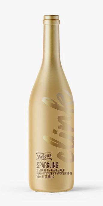 Welch's Sparkling White Grape 100% Juice - 25.4 fl oz Glass Bottle