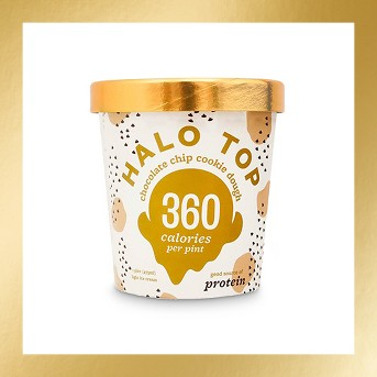 Halo Top Chocolate Chip Frozen Cookie Dough - 1pt