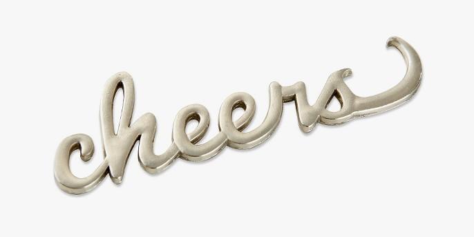 6ct Kate Aspen Cheers Silver Bottle Opener