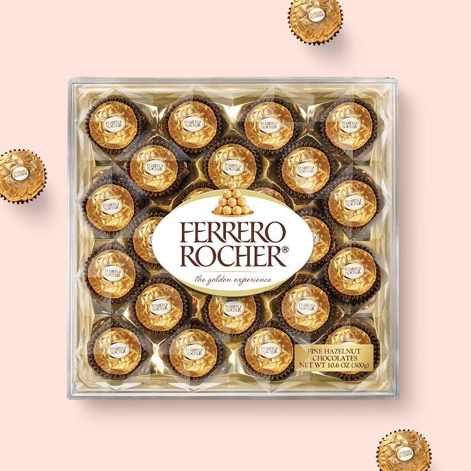 Ferrero Rocher Fine Hazelnut Chocolates 24ct