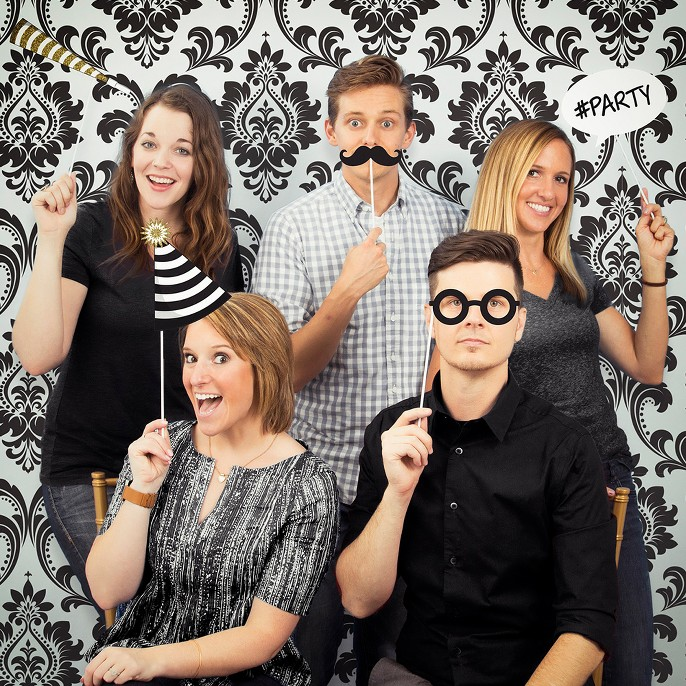 Black and Gold Photo Booth Kit