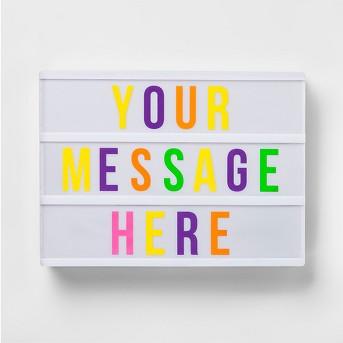 Your Message Here Light Box - Pillowfort™