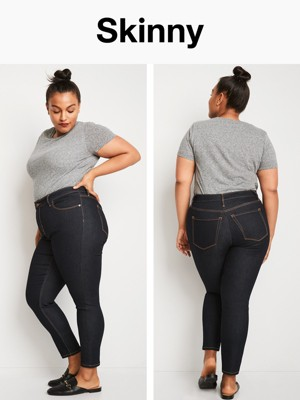 Skinny stretch jeans plus size